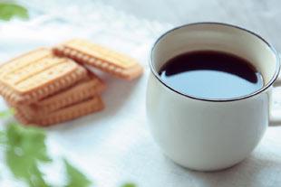 コーヒーに水溶性シリカを入れて