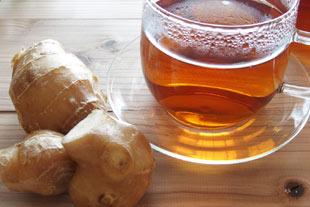 生姜湯や生姜紅茶に水溶性シリカを入れて
